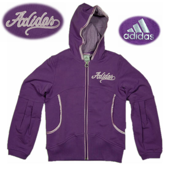 adidas m dchen hoodie kapuzenpullover yg v fz hood lila. Black Bedroom Furniture Sets. Home Design Ideas